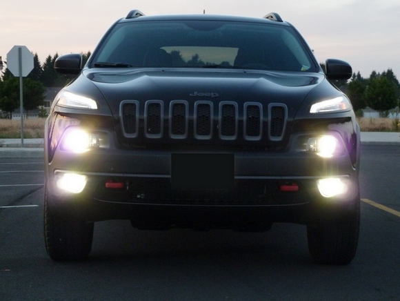 Old Jeep Night Headlights : Jeep cherokee hid kit and led bulb installation