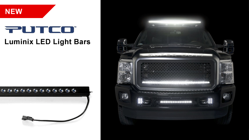Introducing putco luminix led light bars up to 18900 lumens introducing putco luminix led light bars these off road light bars are up to 300 smaller than other brands measuring only 075 x 15 in depth which mozeypictures Image collections