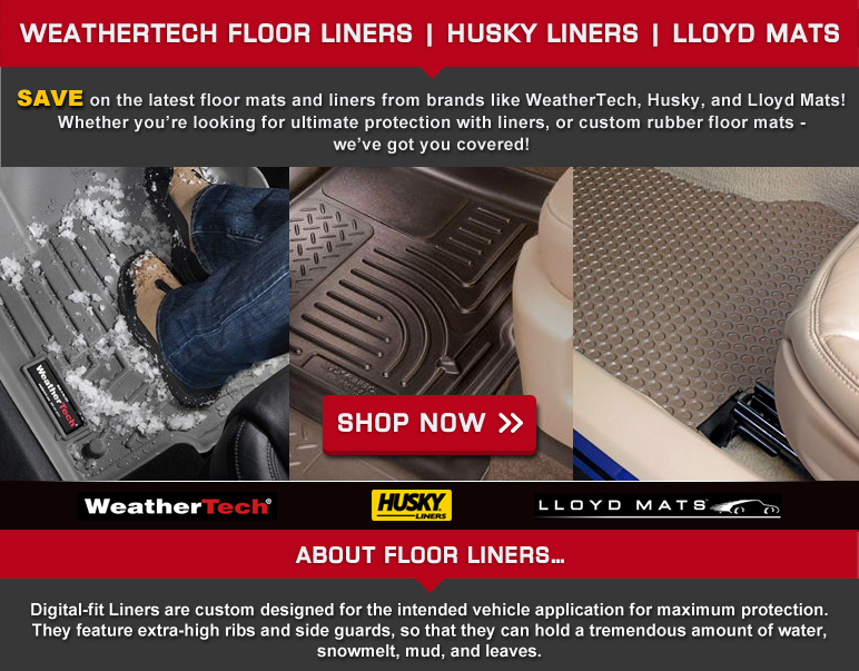 sale: savings on floor liners, mats, cargo liners - weathertech