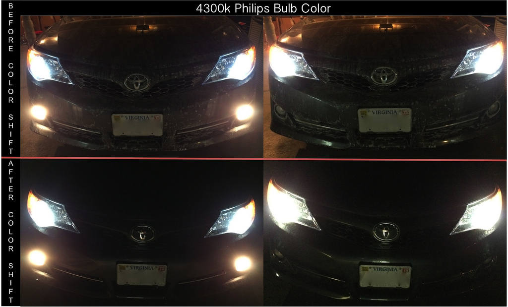 4300k Vs 5000k Hid Color Temperature Comparison Clublexus Lexus