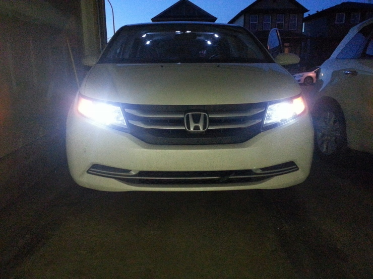 A Review Of Xenondepot S H11 Led Headlight Bulbs In 2017 Honda Odyssey